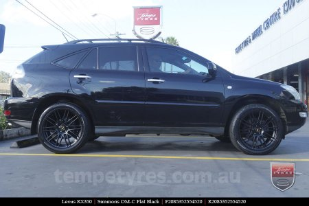 20x8.5 20x10 Simmons OM-C FB on LEXUS RX350