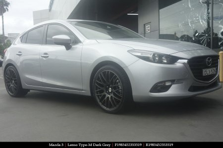 19x8.5 Lenso Type-M DG on MAZDA 3