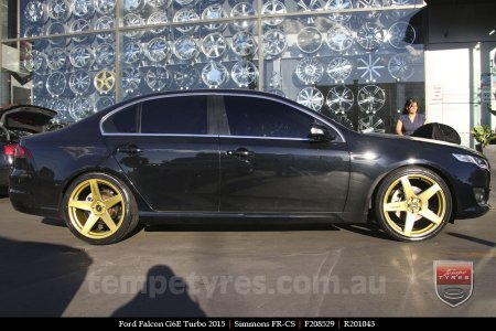 20x8.5 20x10 Simmons FR-CS Gold on FORD FALCON