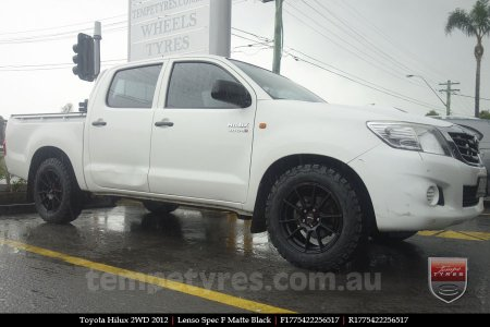17x7.5 Lenso Spec F MB on TOYOTA HILUX 2WD