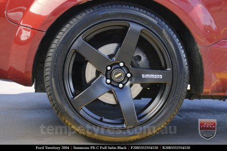 20x8.5 20x10 Simmons FR-C Full Satin Black on FORD TERRITORY