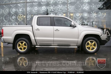 18x8.5 18x9.5 Simmons FR-1 Gold on VW AMAROK
