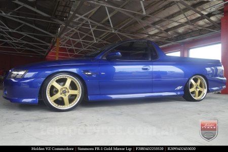 20x8.5 20x9.5 Simmons FR-1 Gold on HOLDEN VZ COMMODORE