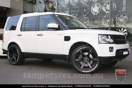 20x9.0 Simmons S6 Matte Black on LAND ROVER DISCOVERY 4