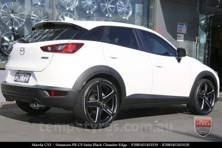 20x8.5 20x10 Simmons FR-CS Satin Black on MAZDA CX3