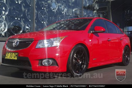 17x7.5 Lenso Spec F MB on HOLDEN CRUZE