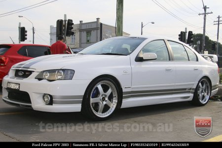 19x8.5 19x9.5 Simmons FR-1 Silver on FORD FALCON FPV