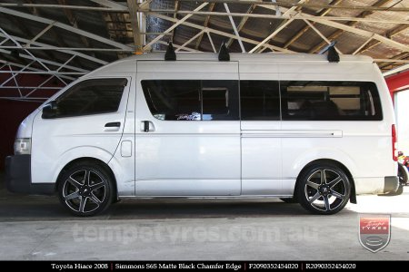 20x9.0 Simmons S6S Matte Black on TOYOTA HIACE