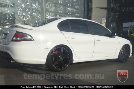 22x8.5 22x9.5 Simmons FR-1 Full Gloss Black on FORD FALCON FG