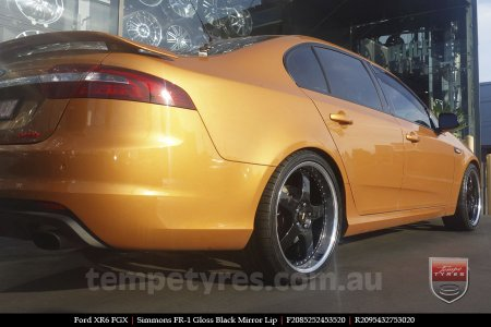 20x8.5 20x9.5 Simmons FR-1 Gloss Black on FORD XR6
