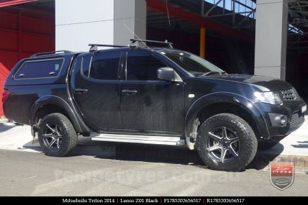 17x8.5 Lenso Z01 Black on MITSUBISHI TRITON