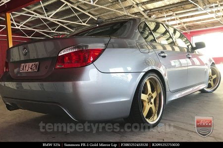 20x8.5 20x9.5 Simmons FR-1 Gold on BMW 525i