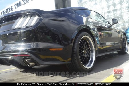 20x8.5 20x9.5 Simmons OM-1 Gloss Black on FORD MUSTANG