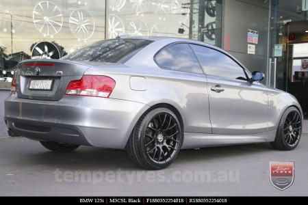 18x8.0 M3CSL Black on BMW 125i