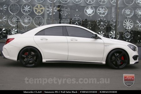 20x8.5 20x10 Simmons FR-C Full Satin Black on MERCEDES CLA CLASS