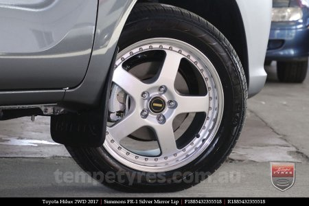 18x8.5 18x9.5 Simmons FR-1 Silver on TOYOTA HILUX 2WD