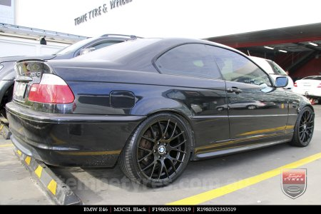 19x8.0 19x9.0 M3CSL Black on BMW E46