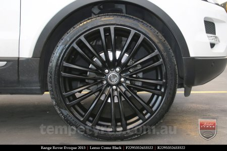 22x9.5 Lenso Como Black on RANGE ROVER EVOQUE
