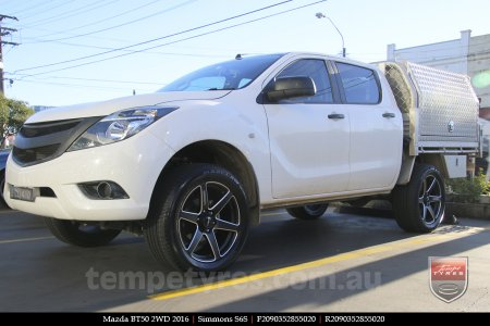 20x9.0 Simmons S6S Matte Black on MAZDA BT50