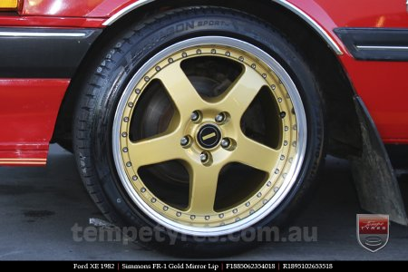 18x8.5 18x9.5 Simmons FR-1 Gold on FORD XE