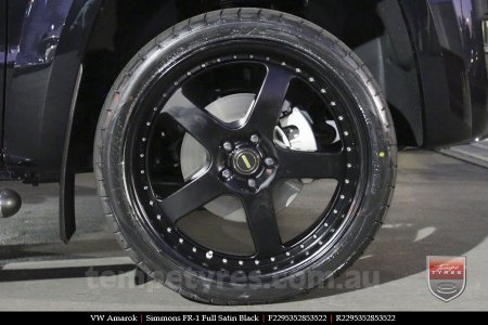 22x8.5 22x9.5 Simmons FR-1 Full Satin Black on VW AMAROK