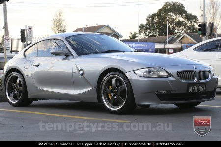 18x8.5 18x9.5 Simmons FR-1 Hyper Dark on BMW Z4