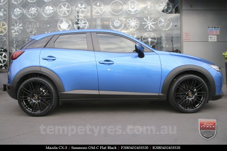 20x8.5 20x10 Simmons OM-C FB on MAZDA CX3