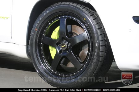 22x8.5 22x9.5 Simmons FR-1 Full Satin Black on JEEP GRAND CHEROKEE