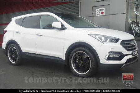 20x8.5 20x9.5 Simmons FR-1 Gloss Black on HYUNDAI SANTA FE