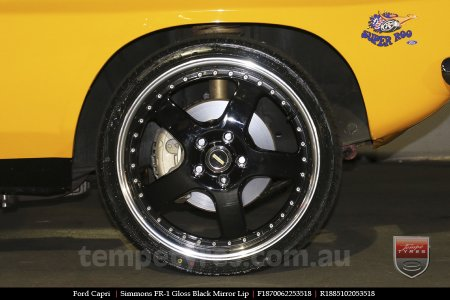 18x7.0 18x8.5 Simmons FR-1 Gloss Black on FORD CAPRI