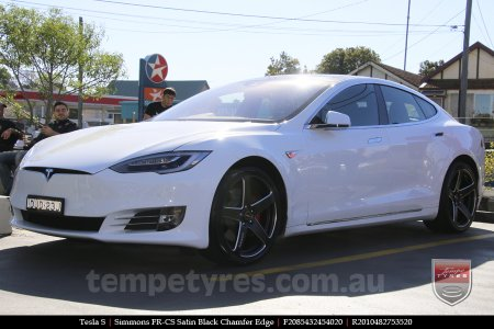 20x8.5 20x10 Simmons FR-CS Satin Black on TESLA S