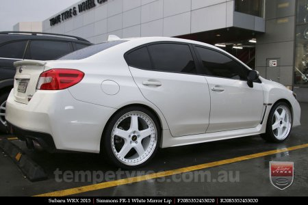 20x8.5 20x9.5 Simmons FR-1 White on SUBARU WRX
