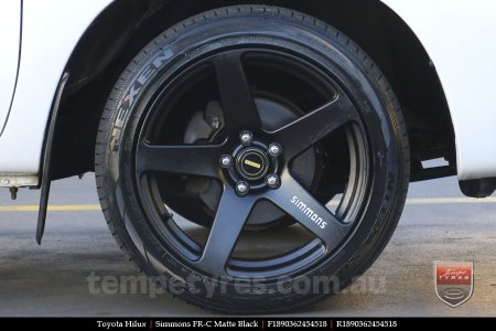 18x8.0 18x9.0 Simmons FR-C Matte Black NCT on TOYOTA HILUX