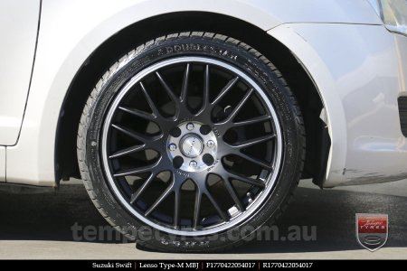 17x7.0 Lenso Type-M - MBJ on SUZUKI SWIFT