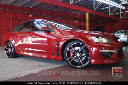20x8.5 20x10 Sothis SC100 BFM on HOLDEN COMMODORE VE