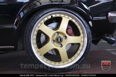 18x7.0 18x8.5 Simmons FR-1 Gold on MAZDA 808