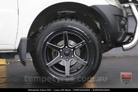 18x9.5 Lenso Z01 Black on MITSUBISHI TRITON