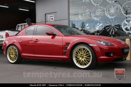 20x8.5 20x9.5 Simmons OM-1 Gold on MAZDA RX8