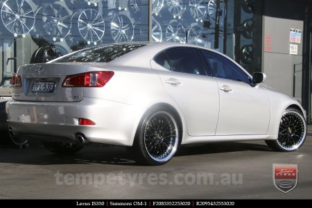 20x8.5 20x9.5 Simmons OM-1 Gloss Black on LEXUS IS350