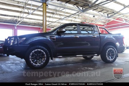 20x9.5 Lenso Grunt G1 Silver on FORD RANGER