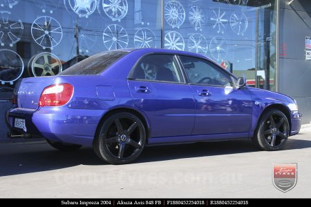 18x8.0 Akuza Axis 848 FB on SUBARU IMPREZA