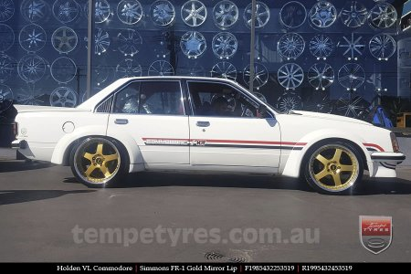 19x8.5 19x9.5 Simmons FR-1 Gold on HOLDEN VL COMMODORE
