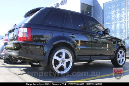 22x8.5 22x9.5 Simmons FR-1 Silver on RANGE ROVER SPORT