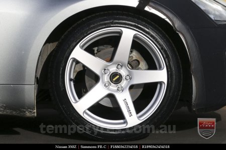 18x8.0 18x9.0 Simmons FR-C Silver on NISSAN 350Z
