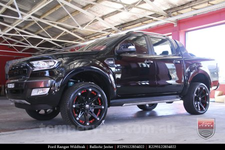 22x9.5 Ballistic Jester on FORD RANGER WILDTRAK