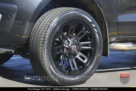 20x9.0 Ballistic Ravage Flat Black on FORD RANGER