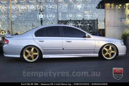 20x8.5 20x9.5 Simmons FR-1 Gold on FORD XR6