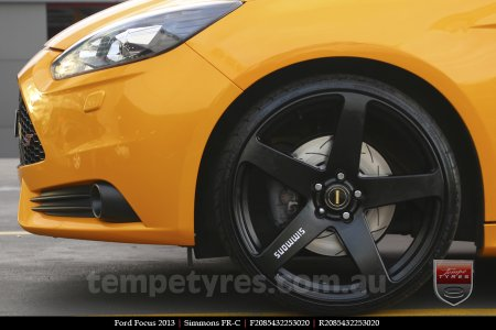 20x8.5 20x10 Simmons FR-C Full Satin Black on FORD FOCUS