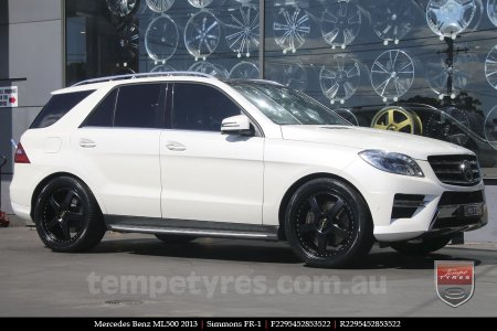 22x8.5 22x9.5 Simmons FR-1 Full Satin Black on MERCEDES ML CLASS