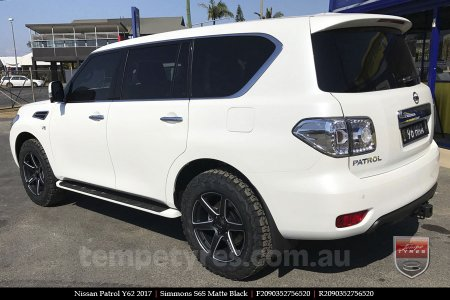 20x9.0 Simmons S6S Matte Black on NISSAN PATROL
